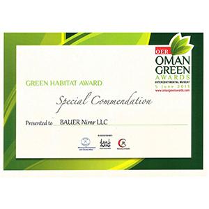 9_NWTP_Green Habitat award_Special Commendation_2012